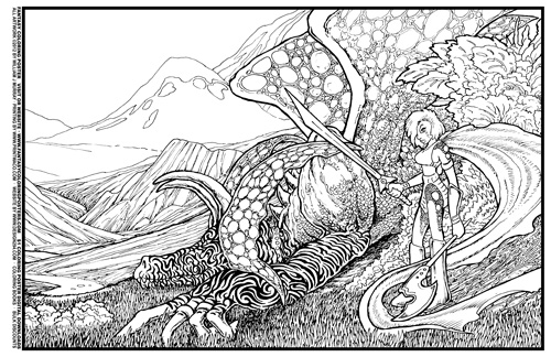 Fantasy Coloring Poster 7 Lying In Wait By Design249 On