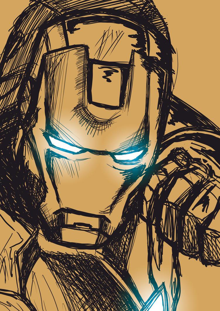 Iron Man Sketch by Shigurui