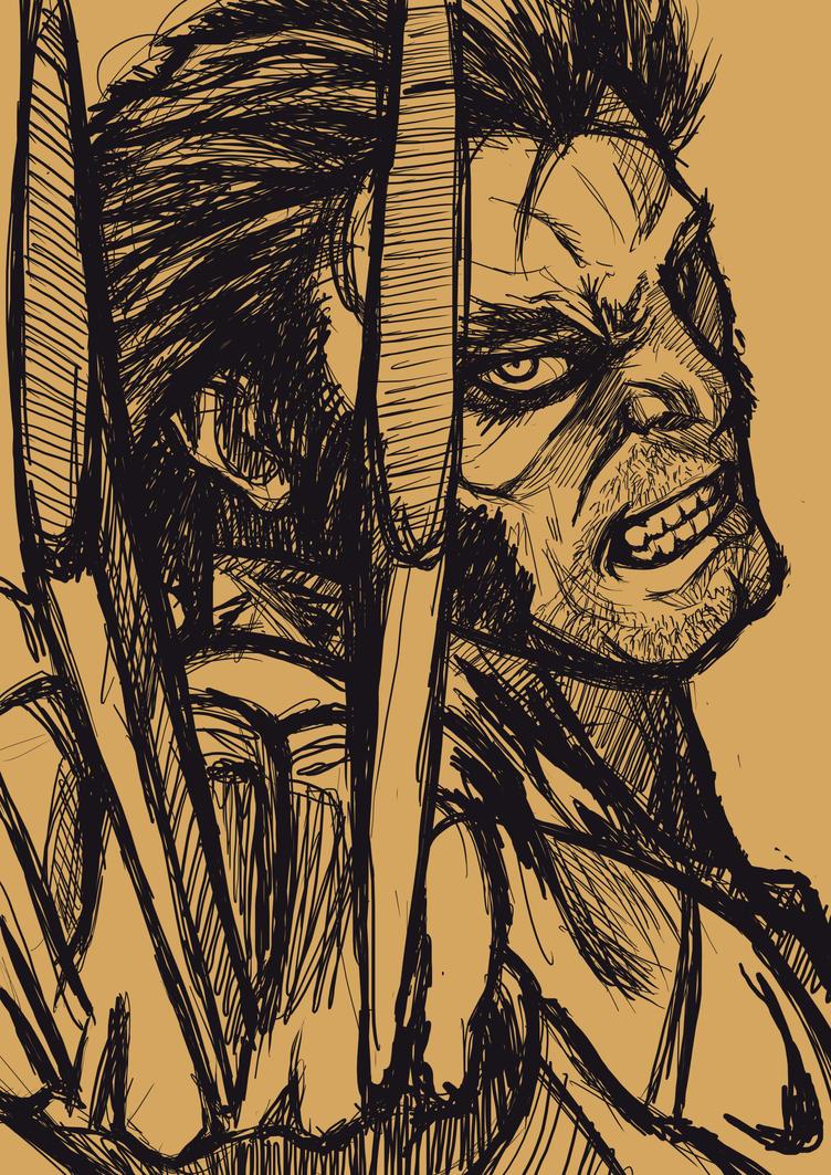 Wolverine sketch by Shigurui