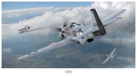 Jet Hunting by HendrikAviationArt
