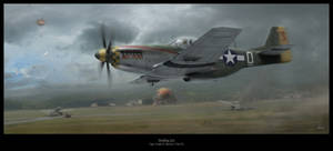 Strafing Ace by HendrikAviationArt