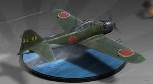 A6M5c Zero - Diorama by HendrikAviationArt