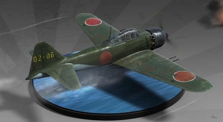 A6M5c Zero - Diorama by guddi292