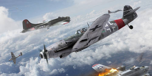 Battling Eagles by HendrikAviationArt