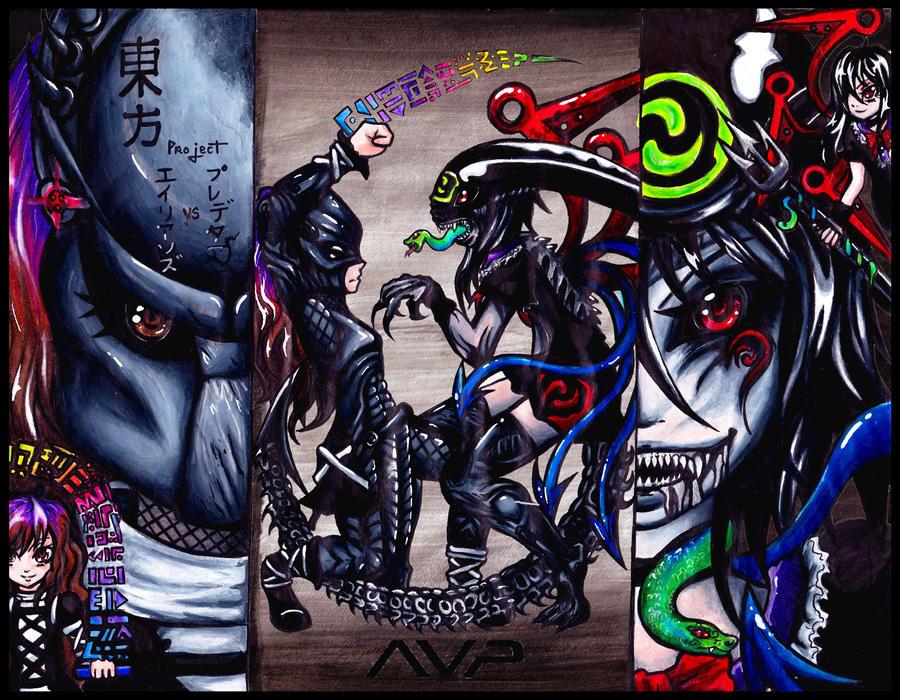 Nue VS Predator : Phantasmagoria 2012 by Ayato-Inverse on DeviantArt