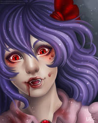 Drawlloween - Day 4 - Vampire: Remilia Scarlet by Chisai-Yokai
