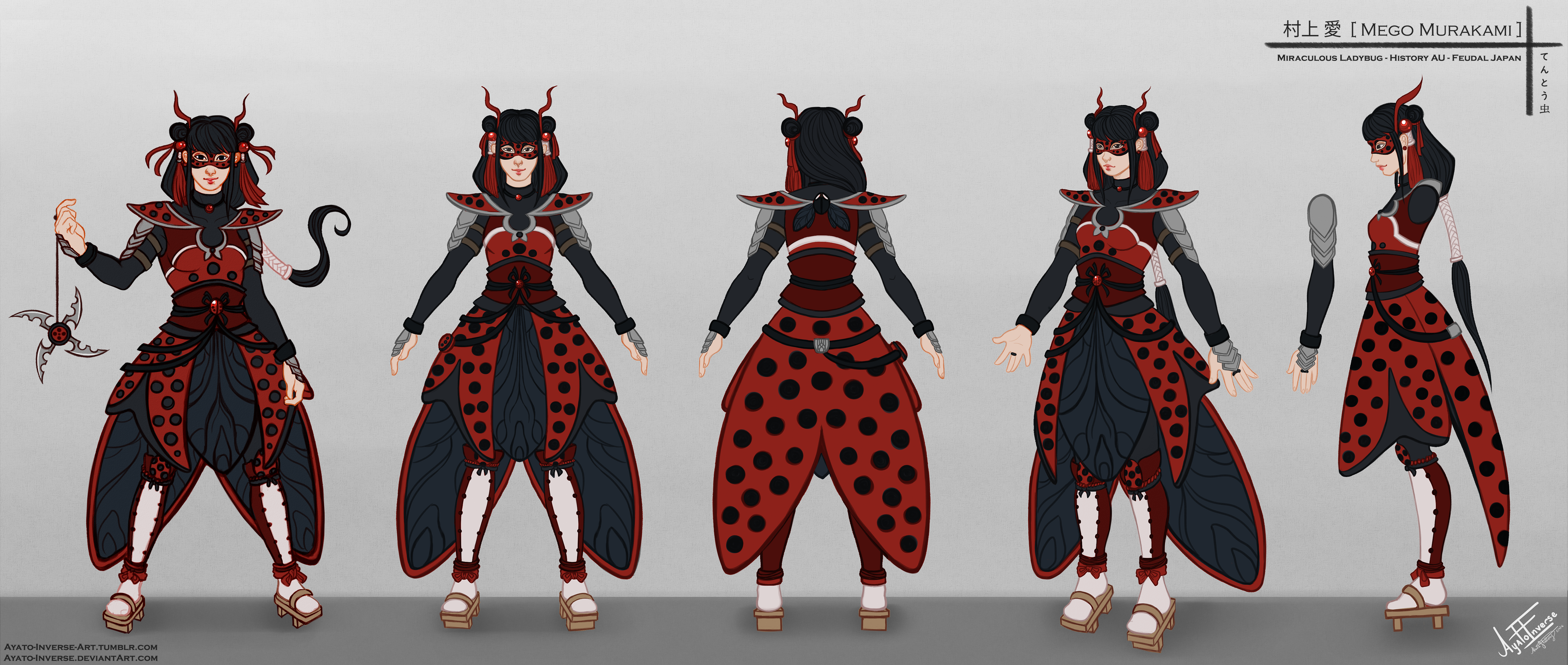 Character Design History : Miraculous ladybug mego character sheet by chisai
