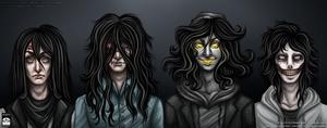 Creepypasta - Long Black Hair Squad