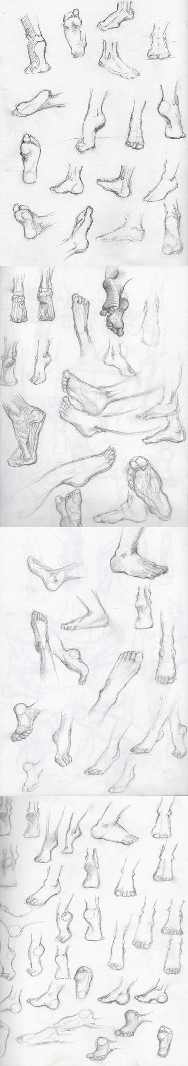 Feet sketches by Cebulaa