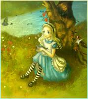 Waiting for Wonderland by orangeregine