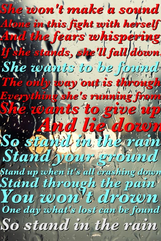 RICHIE KOTZEN - STANDING IN THE RAIN LYRICS