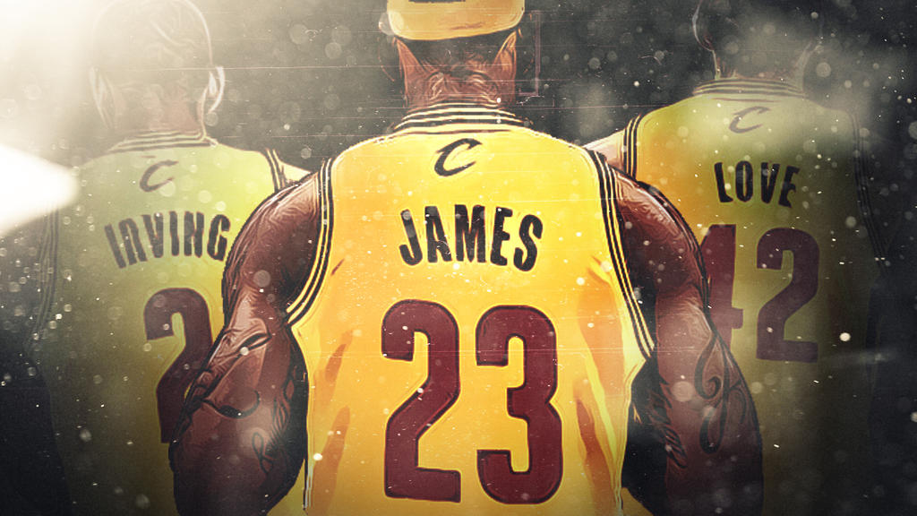 Cleveland Cavs Big 3 WALLPAPER By GfxByMega
