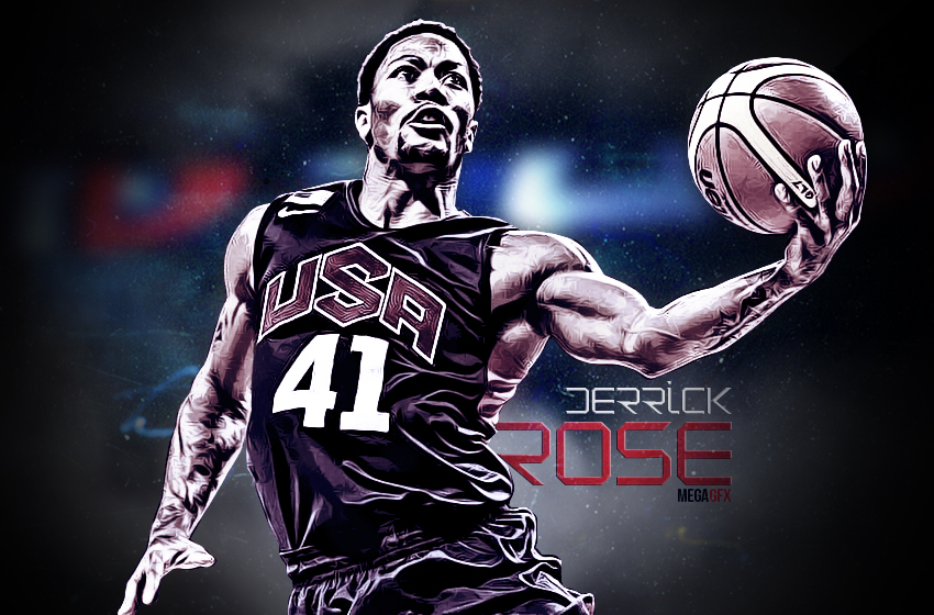 Derrick Rose TEAM USA Wallpaper By GfxByMega