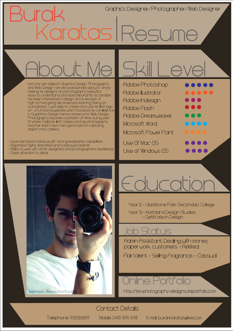 My Resume Design by Aurrum on DeviantArt