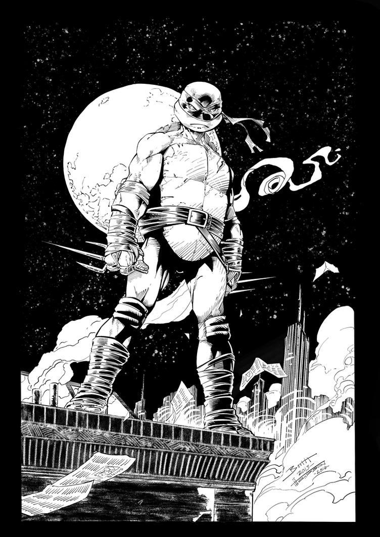 TMNT Raphael (Brett Booth) digital inks by me by Eonprez
