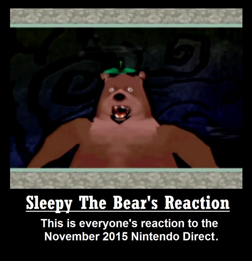 Sleepy the Bear's Reaction by MetalGearBlaze