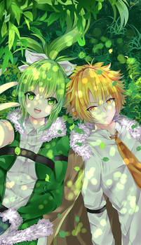 Favorite drawing 2018 -OC Elaine and Kido- by AriChanArt