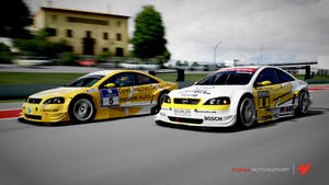 Opel Astra V8 - Side by side