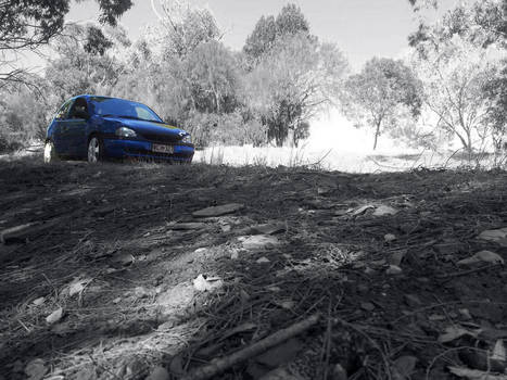 Corsa b on the hill