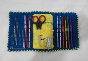 Crochet hook Case open by GehadMekki