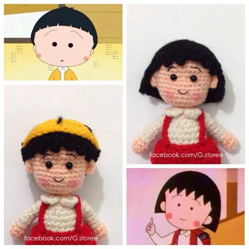 Maruko And Sakiko By Danoblong On Deviantart: Amigurumi Chibi Maruko Chan Crochet By GehadMekki On