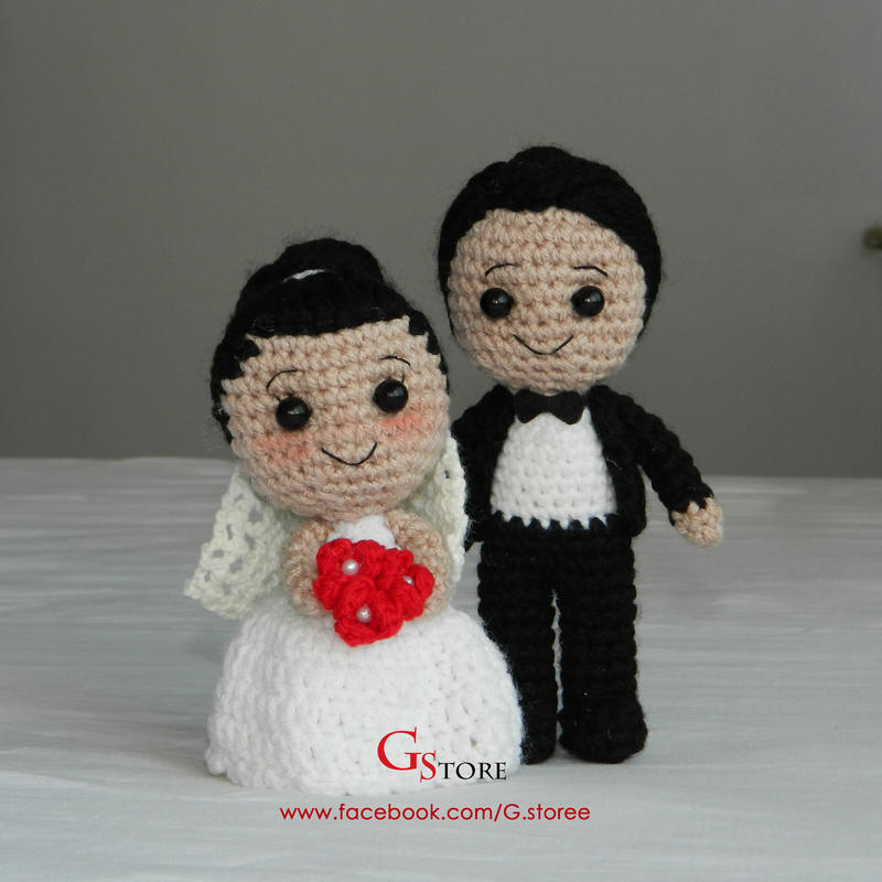 Amigurumi bride and groom by GehadMekki on DeviantArt