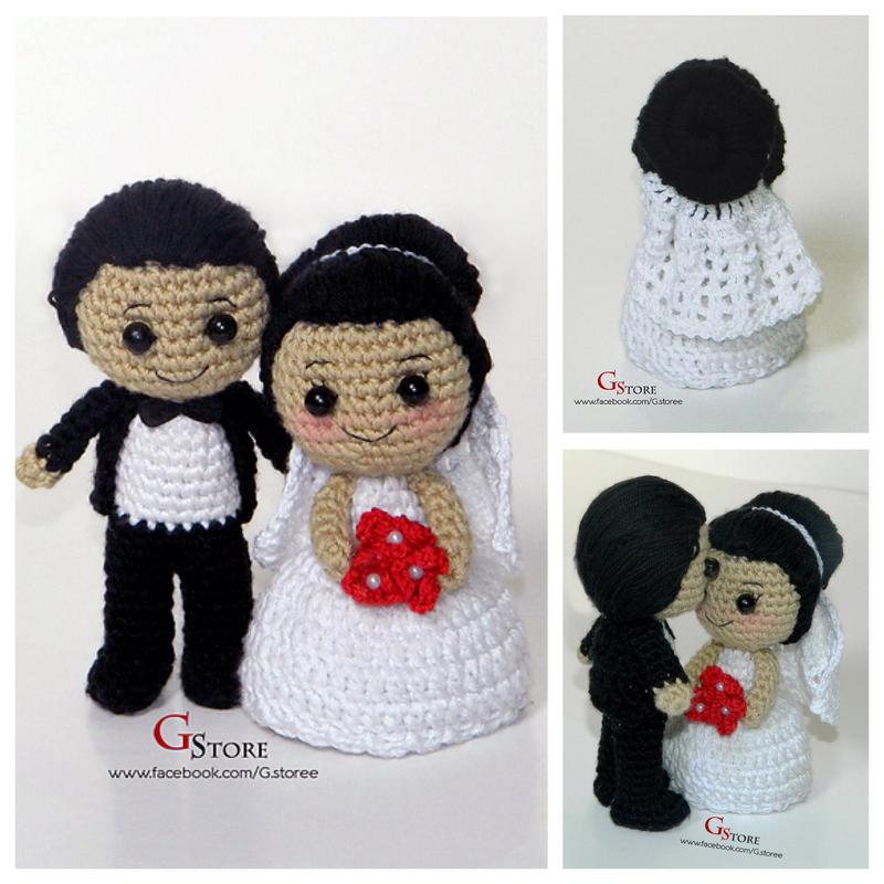 Chibi Bride and Groom amigurumi pattern by GehadMekki