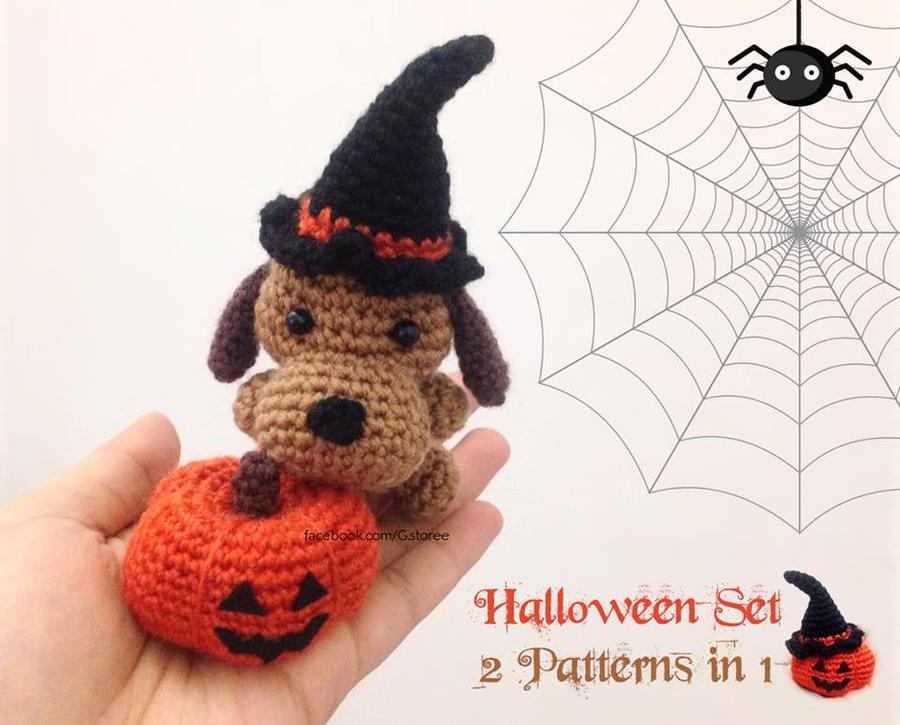 Amigurumi pattern for Halloween pumpkin unicorn | 725x900