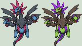 Hydreigon Sprite by KingOfThe-X-Roads