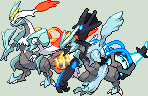 Black and White Kyurem Charged Sprite by KingOfThe-X-Roads