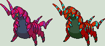 Scolipede Sprite by KingOfThe-X-Roads