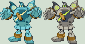 Golurk Sprite by KingOfThe-X-Roads