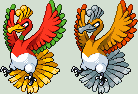 Ho-Oh Sprite by KingOfThe-X-Roads