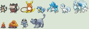 Alolan Pokemon Sprites by KingOfThe-X-Roads