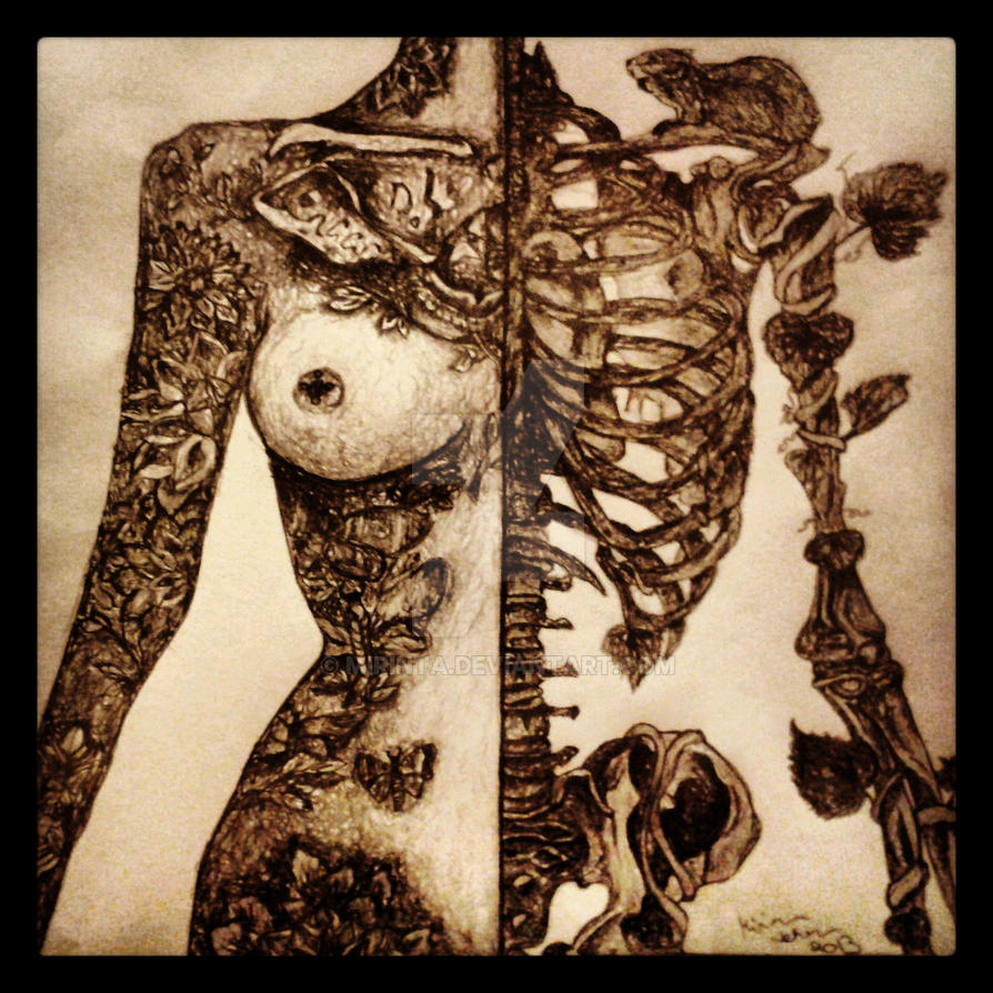 tattooed girl. by mirinta