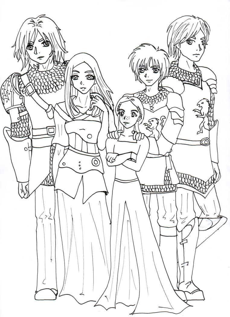 Narnia coloring pages characters
