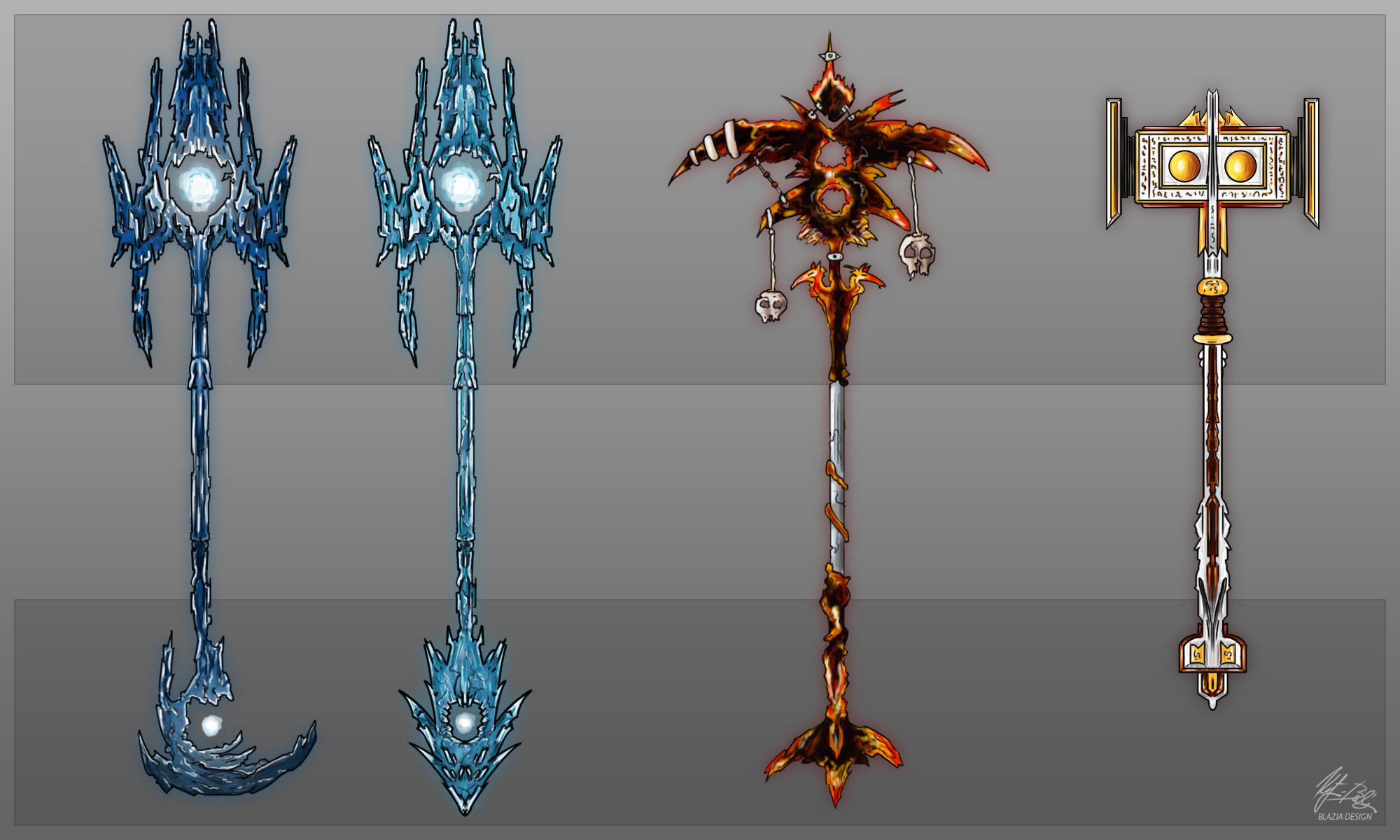Fantasy Weapons Concept Art 2 By Balazsketyi On Deviantart