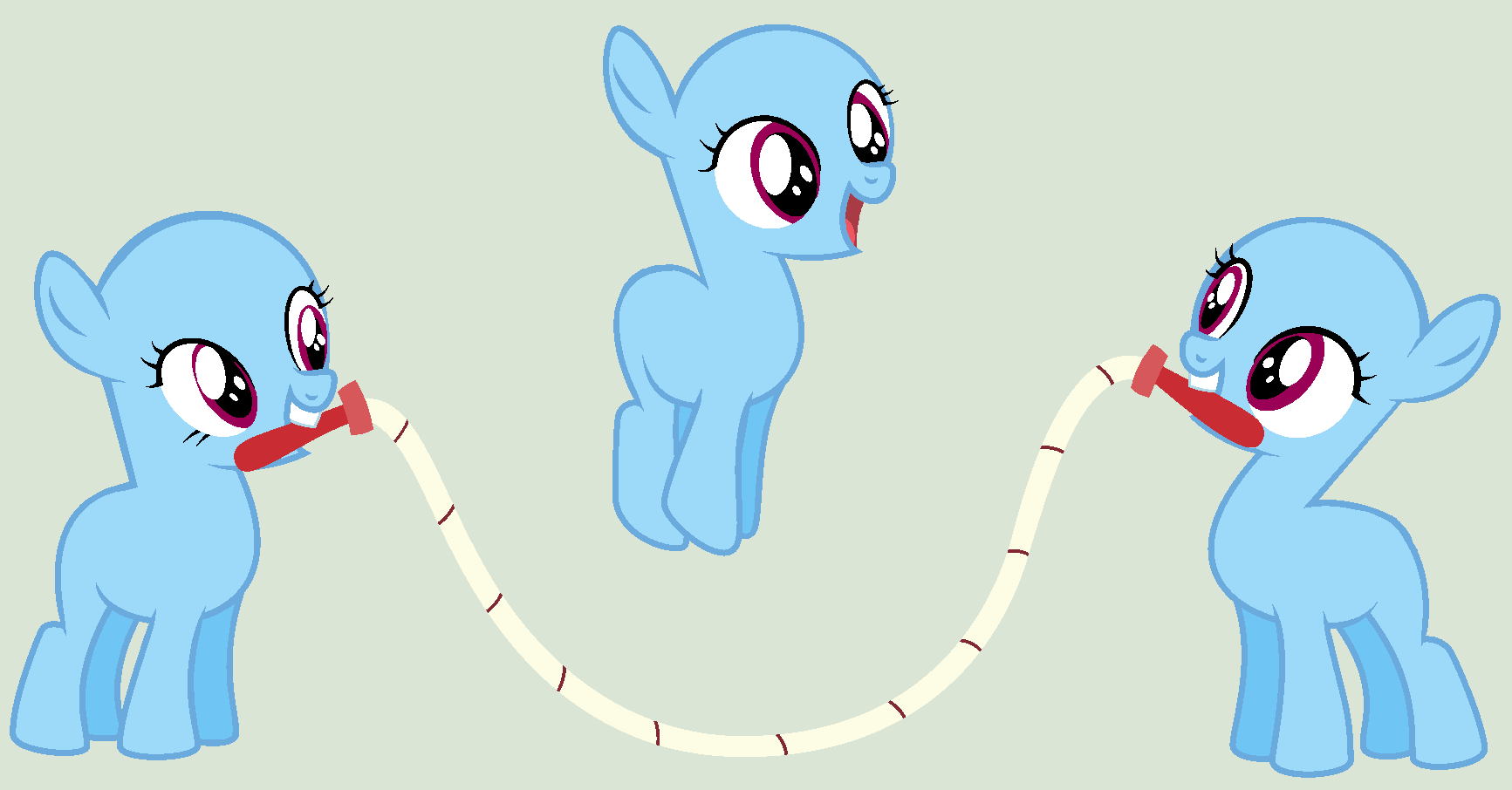 MLP Base - Jump rope! by TheTeChNoCaT on DeviantArt