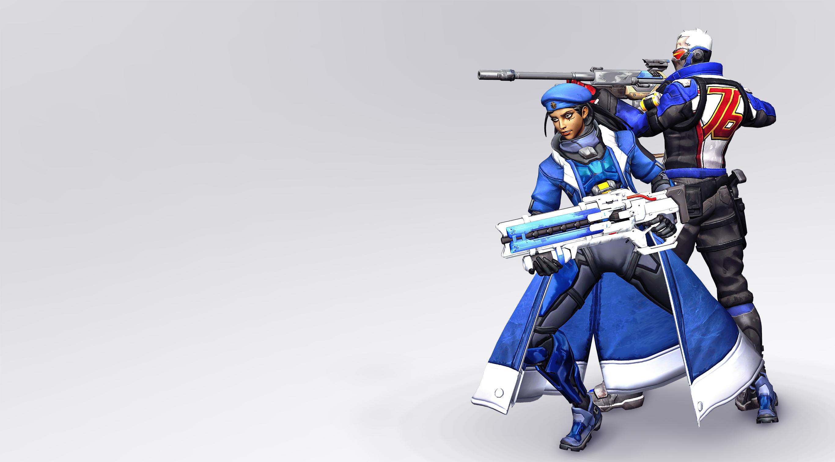 Ana X Soldier 76 Overwatch Wallpaper By Shylock7 On Deviantart