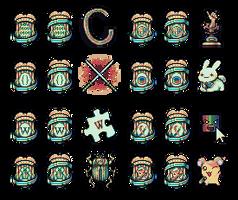 Pixel Forum Badges by AtskaHeart