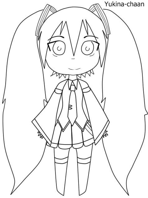 Miku Hatsune Chibi Para Colorear By Yukina Chaan On Deviantart