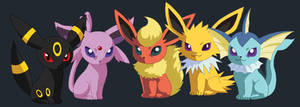 Pokemon Eevee Evolve Forms by Salem-L-Drako