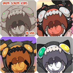 YCH Grem Screm Icons