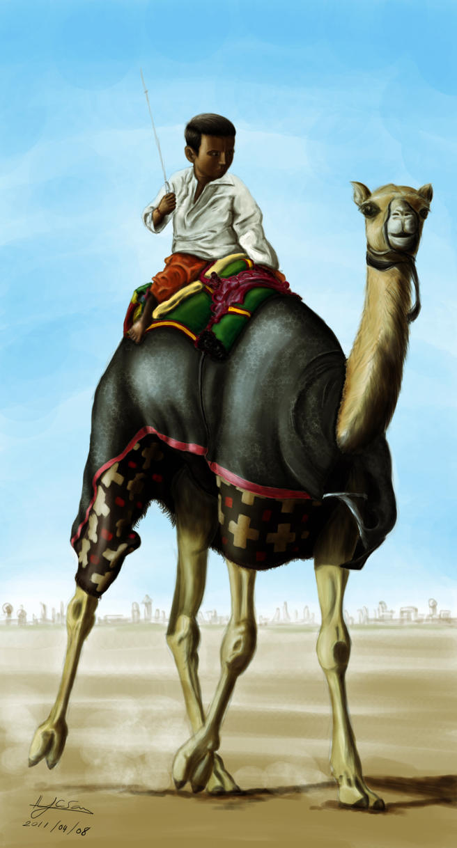 Boy and Camel by chindjsri