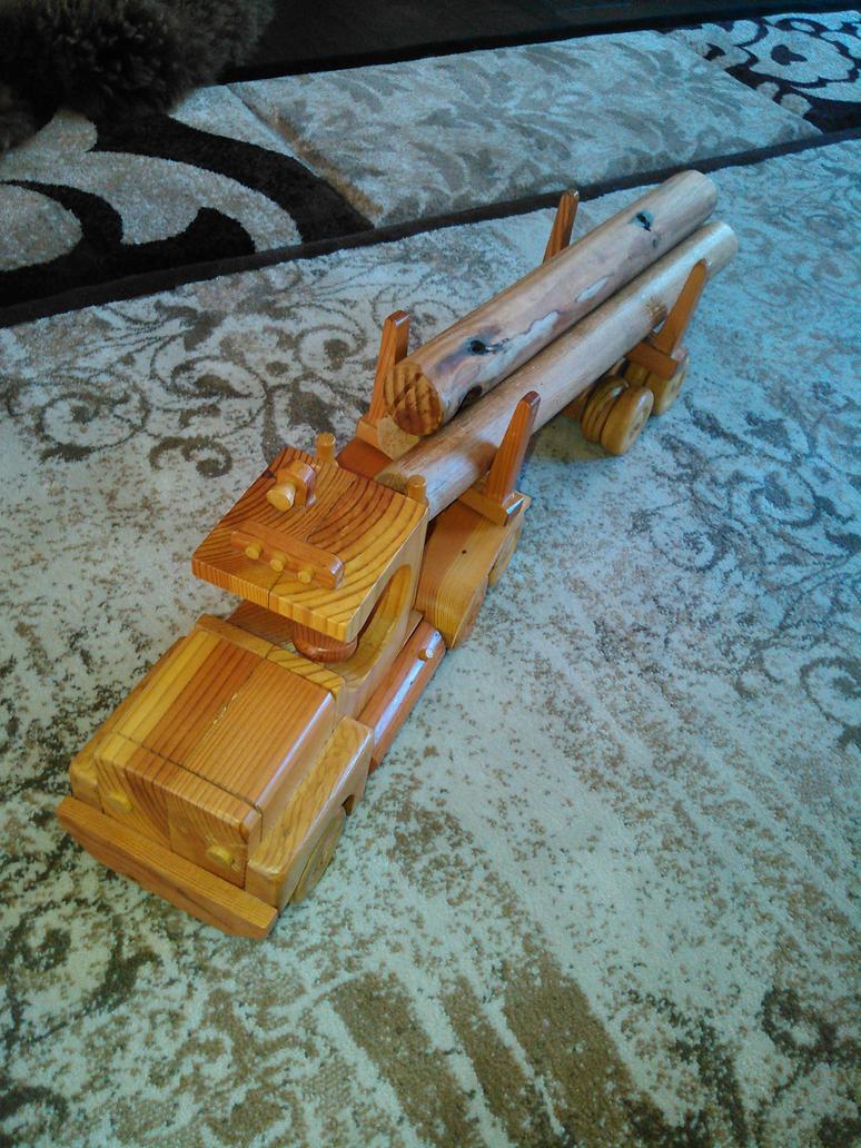 wood logging truck by saberclaw1x