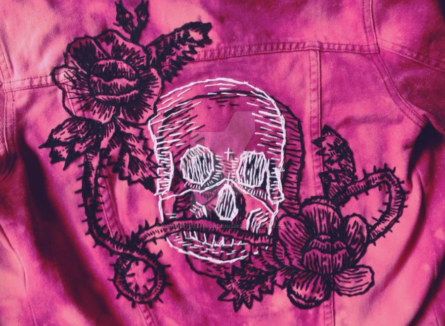 Etched Skull Jacket by browneyedanachronism