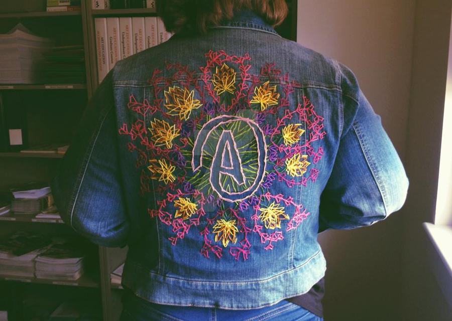 Atheist Kaleidoscope Jacket (My first Commission!) by browneyedanachronism