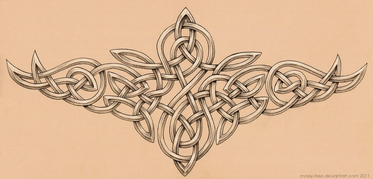 Celtic knotwork tattoo by mossy-tree