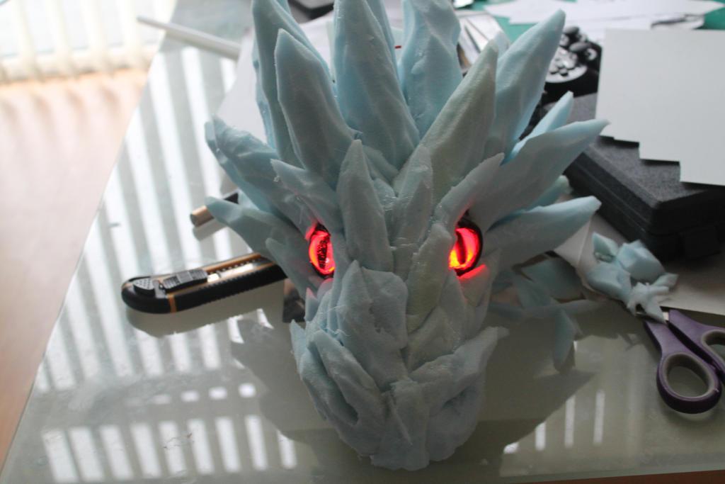 New Bankai dragon head by smallfry09