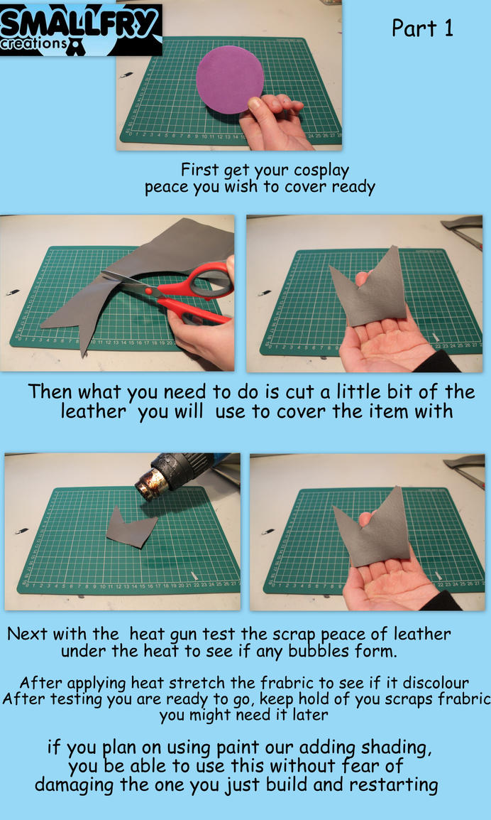 Cosplay tutorial ~ working with leather by smallfry09